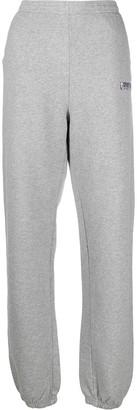 Sporty & Rich Wide Leg Cotton Track Trousers