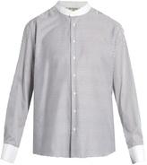 Etro Granddad-collar striped cotton shirt