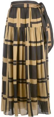 Zimmermann Cubic print maxi skirt