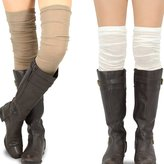 TeeHee Socks Teehee Women's Fashion Extra Long Cotton Thigh High Socks - 2 Pair Pack