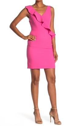 Do & Be V-Neck Sleeveless Ruffled Dress
