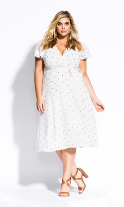 City Chic Sweet Doll Dress - toffee