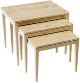 Ave Home Asst. of 3 Mollie Nesting Tables - Natural