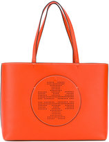 Tory Burch logo tote - women - Leather - One Size