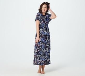 Carole Hochman Petite Rayon Spandex Dahlia Maxi Gown