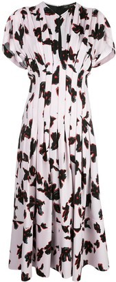 Proenza Schouler Painted Iris Fitted Dress