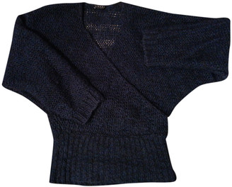 Non Signé / Unsigned Non Signe / Unsigned Kimono Blue Wool Knitwear