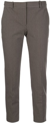 Theory Tailored Striped Print Trousers