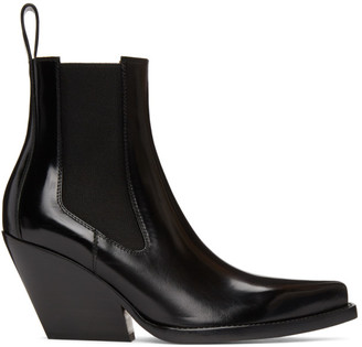 Bottega Veneta Black The Lean Heeled Chelsea Boots