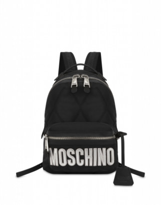 Moschino Quilted Medium Backpack With Logo
