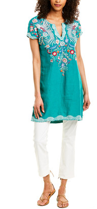 Johnny Was Bisous Easy Long Linen Tunic