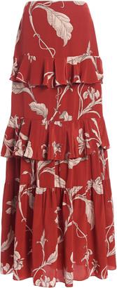 Johanna Ortiz Women's Real Thinking Floral Silk Maxi Skirt - Print - Moda Operandi