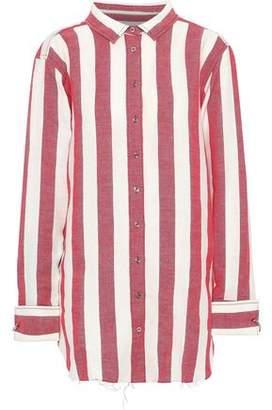 Marques Almeida Marques' Almeida Striped Linen And Cotton-blend Shirt
