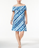 Style&Co. Style & Co Plus Size Off-The-Shoulder A-Line Dress, Created for Macy's
