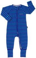 Bonds Baby Ribby Life Striped Long Sleeve Wondersuit, Teal
