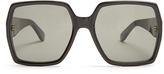 Saint Laurent Oversized rectangle-frame acetate sunglasses