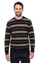Maine New England Yellow Striped Crew Neck Jumper