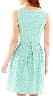 JCPenney 9 & Co.® Princess Seam Print Dress
