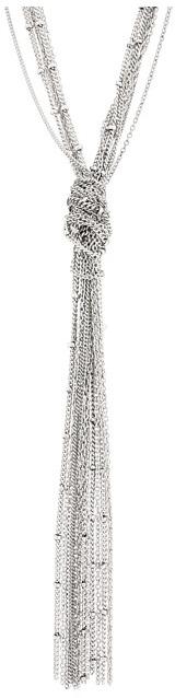 BCBGMAXAZRIA BCBGeneration - BCBGeneration Silver Multi-strand Knotted Chain Core Y-Necklace
