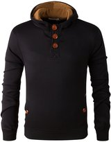 Anna-Kaci Trend Cotton Turtleneck Winter Sweater Men Pullover Hoody