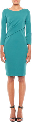 Emporio Armani 3/4-Sleeve Milano Jersey Sheath Dress with Ruching