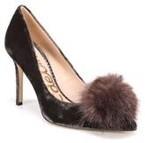 Sam Edelman Women's Haroldson Pump With Faux Fur Pompom