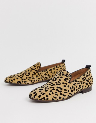H By Hudson Bolton leopard loafers