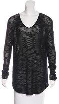 Helmut Lang Open Knit Silk Sweater