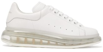 Alexander McQueen Raised Bubble-sole Leather Trainers - Womens - White