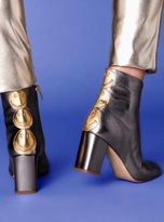 Camilla Elphick Smile Time Boots in Gunmetal Leather