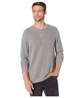 Lucky Brand Men's Thermal Snap Notch Neck Shirt