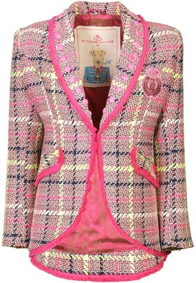 The Extreme Collection Pink Checkered Blazer Florentina