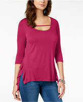 Love Scarlett Petite Strap-Front High-Low Tunic, Created for Macy's