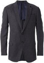 Armani Collezioni flap pockets blazer - men - Linen/Flax/Lyocell/Polyethylene/Viscose - 52