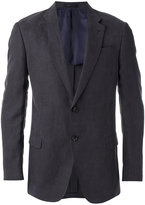 Armani Collezioni flap pockets blazer - men - Linen/Flax/Polyethylene/Acetate/Viscose - 52