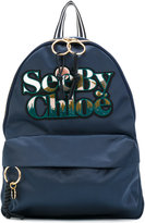 See by Chloé logo embroidered backpack