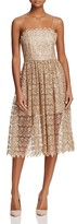 Alice + Olivia Alma Embroidered Lace Party Dress