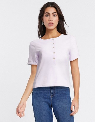 Free People henly t-shirt in white
