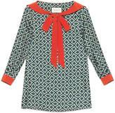 Gucci Geometric print silk sailor shirt