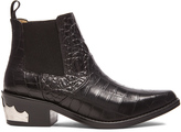 Toga Pulla Embossed Buckle Bootie