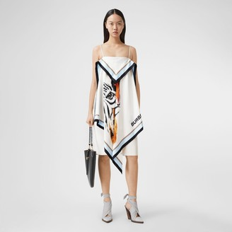 Burberry Animalia Print Silk Scarf Dress