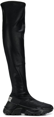 Versace Knee-High Sporty Boots