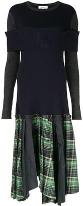 Enfold Contrast Panel Knit Dress