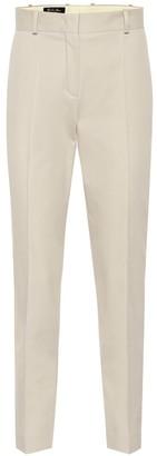 Loro Piana Derk mid-rise slim cotton pants