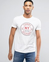 Tommy Hilfiger Circle Logo T-shirt Regular Fit in White