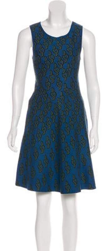 Issa Printed Knit Dress Blue Printed Knit Dress