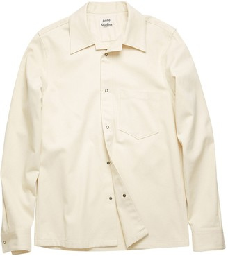 Acne Studios Classic Button-down Cotton Shirt Ecru Beige