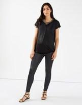 Mama Licious Mamalicious Maternity Leather Look Leggings