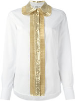 Manoush contrast trim shirt - women - Cotton/Nylon/Metallic Fibre - 42