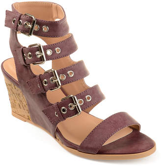Journey + Crew Women's Sandals Purple - Purple Monika Buckle-Strap Wedge Sandal - Women